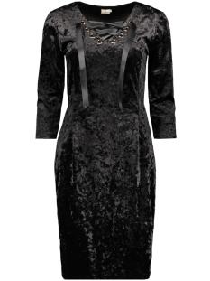 dress velvet iz naiz jurk black