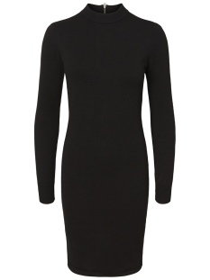 Noisy may Jurk NMCIRUS L/S FUNNEL NECK KNIT DRESS 27003147 Black