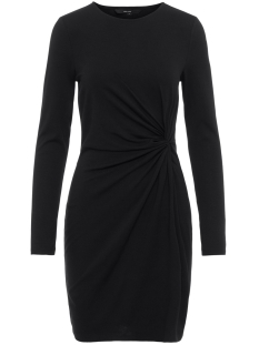vmsmia l/s  knot dress d2-1 10211648 vero moda jurk black