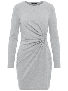 Vero Moda Jurk VMSMIA L/S  KNOT DRESS D2-1 10211648 Light Grey Melange