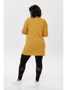 carvaldi ls knee dress 15172423 only carmakoma jurk lemon curry