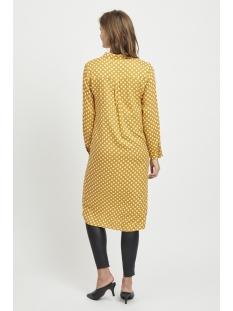 objsigridhanny knot dress 101 23029346 object jurk buckthorn brown/w. white d