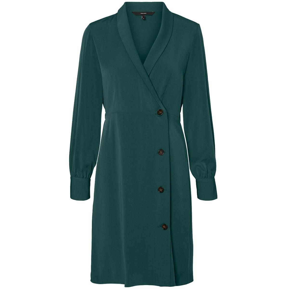 vmsiwe button l/s short dress exp 10215875 vero moda jurk ponderosa pine