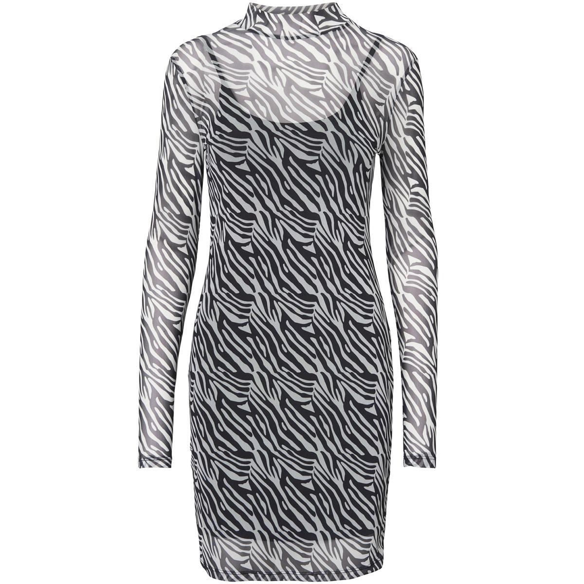 nmkarla  l/s dress 8 27005090 noisy may jurk black/zebra
