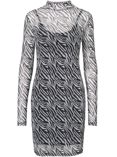 Noisy may Jurk NMKARLA  L/S DRESS 8 27005090 Black/ZEBRA