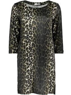 Luba Jurk GINNY 3/4 DRESS 8382 LEOPARD OLIJF
