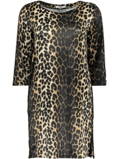 Luba Jurk GINNY 3/4 DRESS 8382 LEOPARD SAND