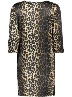 ginny 3/4 dress 8382 leopard luba jurk sand
