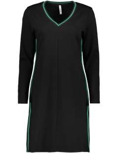 Zoso Jurk HELEN 2 PUNTO DRESS BLACK/GREEN