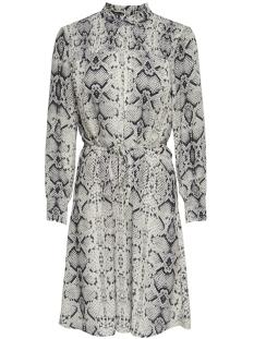 Jacqueline de Yong Jurk JDYSNAKEY L/S SMOCK DRESS WVN 15180680 Sandshell/BLACK SNAK