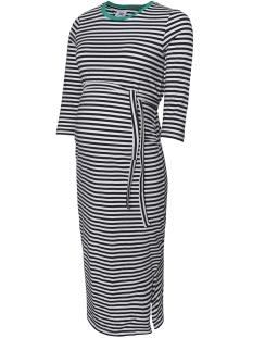 Mama-Licious Positie jurk MLGINA 3/4 JERSEY KL DRESS A. V. O. 20009533 Navy Blazer/Y/D STRIPE