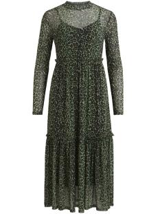 vilihama l/s midi dress /rx 14053896 vila jurk jelly bean/leo print