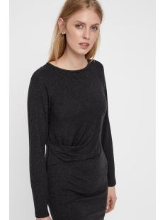 vmkeiko l/s knot dress fd18 10215050 vero moda jurk dark grey melange