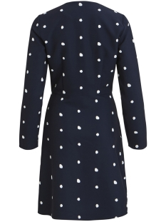 objaideen l/s wrap dress a ps 23029996 object jurk sky captain/white dots