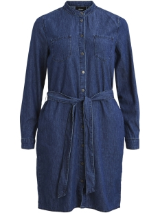 Object Jurk OBJKARA L/S SHIRT DRESS A PS 23029923 Medium Blue Denim