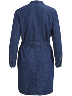 objkara l/s shirt dress a ps 23029923 object jurk medium blue denim