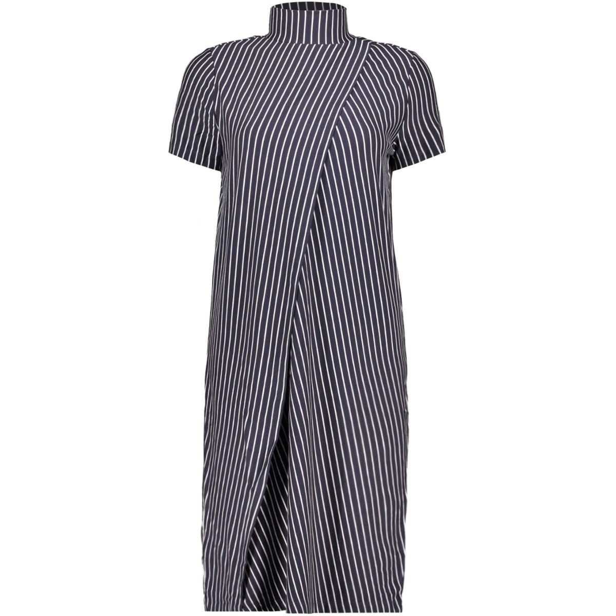 nmalana s/s stripe dress ssx7 27005162 noisy may jurk night sky/night sky