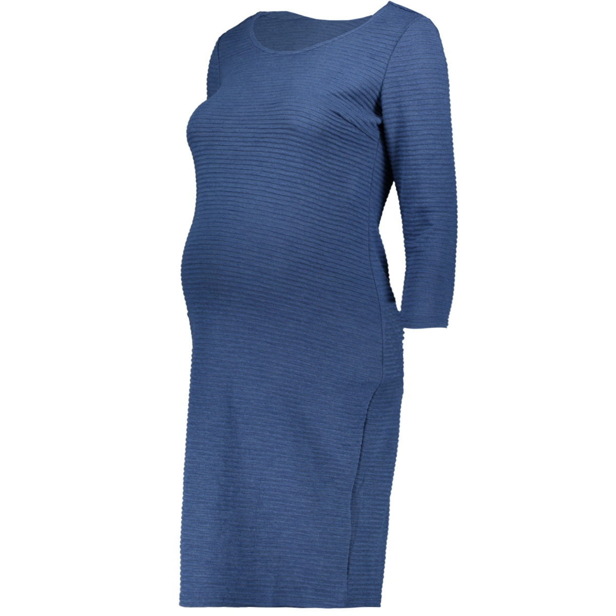 90139 dress 3/4 slv zinnia noppies positie jurk dark denim