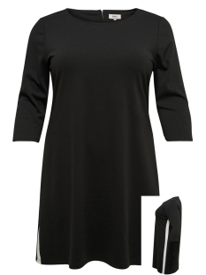 carjennifer 3/4 knee dress 15172402 only carmakoma jurk black/white pane
