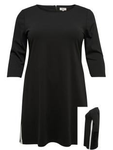 Only Carmakoma Jurk CARJENNIFER 3/4 KNEE DRESS 15172402 Black/WHITE PANE