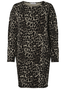 Pieces Jurk PCSIBI LS SWEAT DRESS PB 17096214 Black/LEO