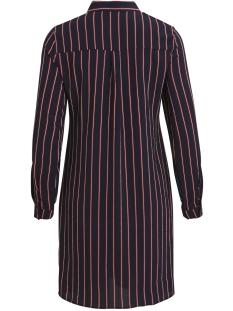 objleonie l/s short knot dress i. 1 23030136 object jurk sky captain/striped