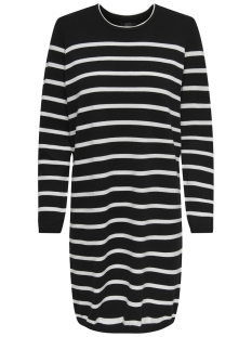 Only Jurk onlAYO L/S DRESS KNT 15171590 Black/W. CLOUD DANCER