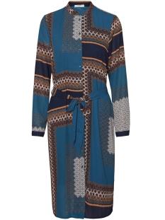pcbonita ls shirt dress dmo pb 17098680 pieces jurk navy blazer/ in multi c