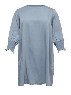 carmedisa 3/4  dress dnm 15172078 only carmakoma jurk light blue denim