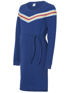 Mama-Licious Positie jurk MLSAYA L/S SWEAT ABK DRESS A. O. 20009471 Blue Depths/ STRIPED TA