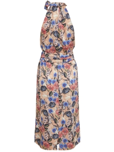 vievika s/l halterneck dress/za 14050945 vila jurk brandied apricot/flower pint