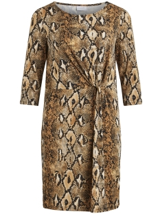Vila Jurk VIONNA 3/4 DRESS /RX 14054317 Toffee/SNAKE