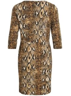 vionna 3/4 dress /rx 14054317 vila jurk toffee/snake