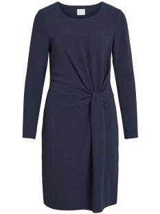 visealo l/s knot dress 14051375 vila jurk navy blazer