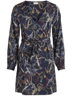 Vila Jurk VIZULA L/S DRESS /RX 14054318 Navy Blazer/CHAIN PRIN