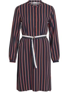 Vila Jurk VISEZU TRACKIE L/S SHIRT DRESS 14051893 Navy Blazer/TRACKIE