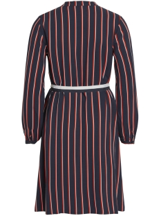visezu trackie l/s shirt dress 14051893 vila jurk navy blazer/trackie