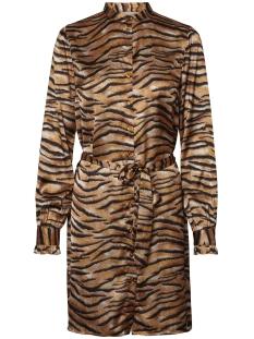 Pieces Jurk PCTIGA LS SHIRT DRESS D2D 17098963 Black/TIGER PRINT