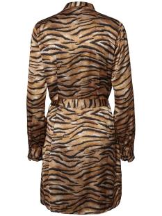 pctiga ls shirt dress d2d 17098963 pieces jurk black/tiger print