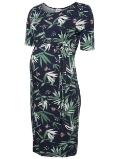 Mama-Licious Positie jurk MLPAYTON 2/4 JERSEY ABK DRESS 20009813 Black Iris/FLORAL