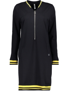 Zoso Jurk SWEAT DRESS SR1904 NAVY/YELLOW
