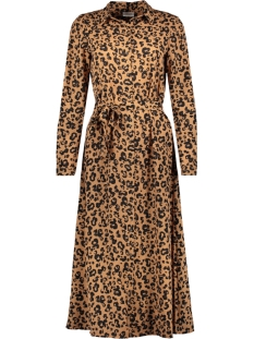 vmgreen ankle shirt dress vma 10210356 vero moda jurk indian tan/anni