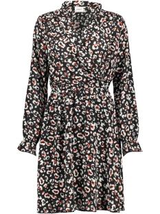 vmgreen ls abk wrap dress vma 10211719 vero moda jurk black/anni