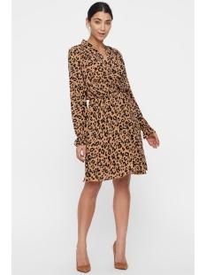 vmgreen ls abk wrap dress vma 10211719 vero moda jurk indian tan/anni