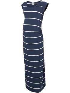 Mama-Licious Positie jurk MLALLY S/S JERSEY MAXI DRESS A. O. 20009953 Navy Blazer/ SNOW WHITE