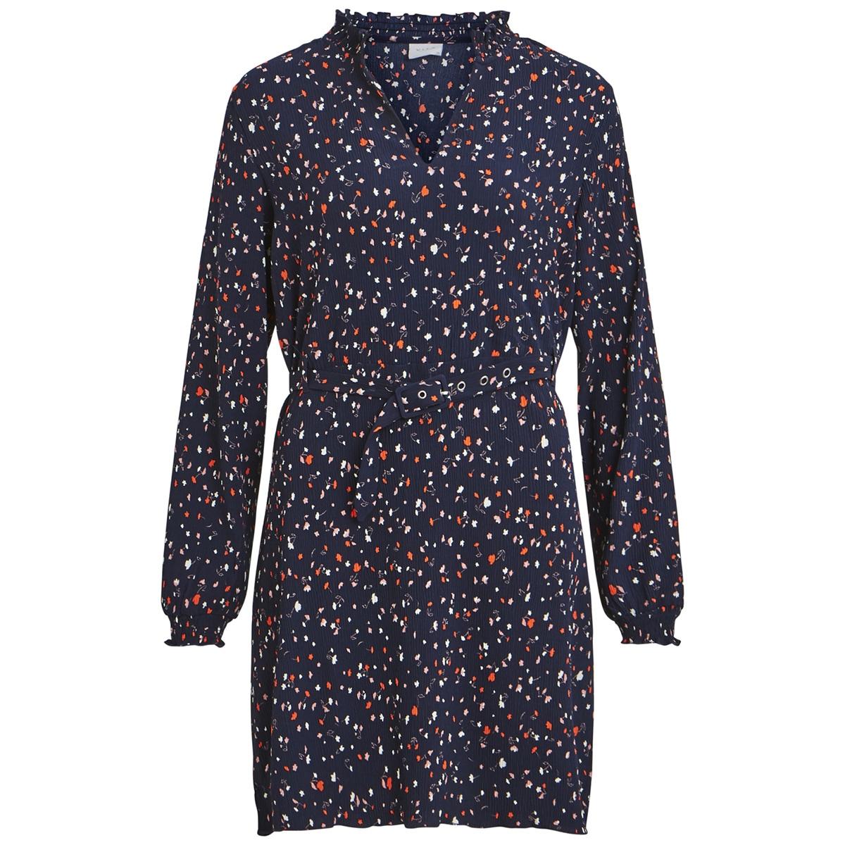 viatla blooming l/s dress 14050481 vila jurk navy blazer/2nd combo
