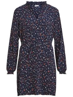 Vila Jurk VIATLA BLOOMING L/S DRESS 14050481 Navy Blazer/2ND COMBO