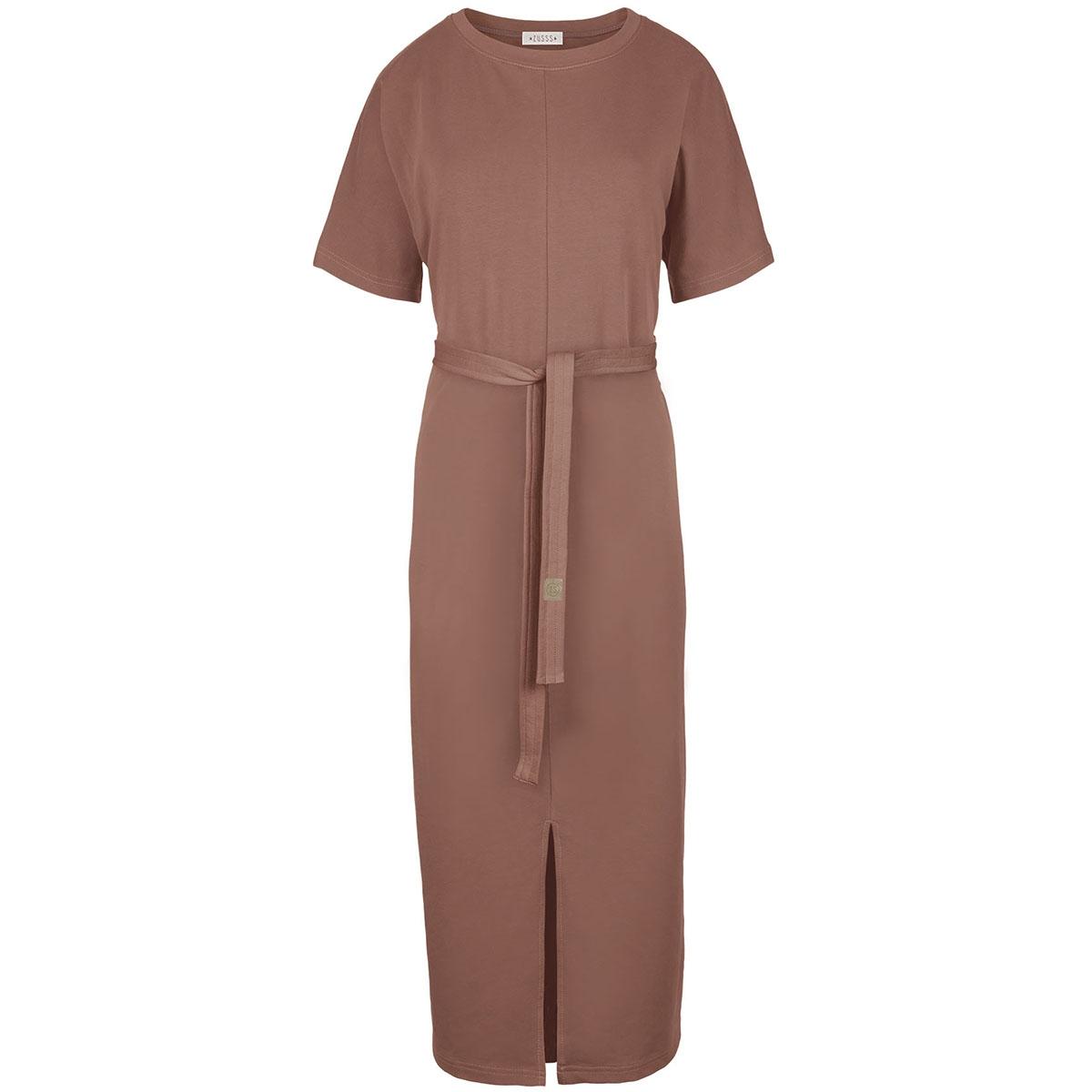 03lj19v hippe lange jurk zusss jurk dbr brique