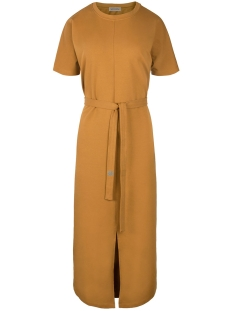 Zusss Jurk 03LJ19V hippe lange jurk Bmo Mosterd
