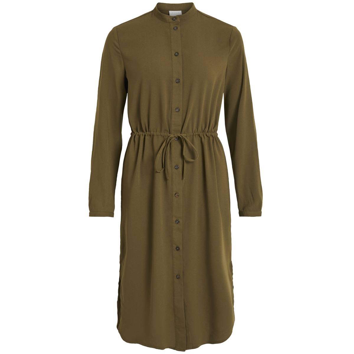 vimiruna l/s shirt dress 14051469 vila jurk dark olive